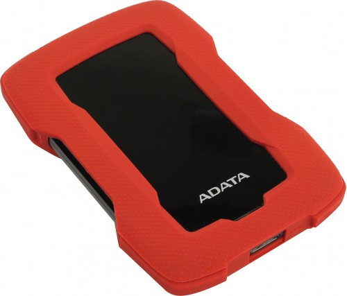 Жесткий диск ADATA HD330 External HDD-1TB-USB 3.2 Gen1-Red (AHD330-1TU31-CRD)